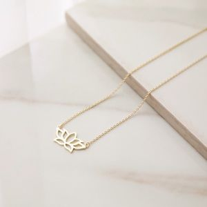 Lotus Necklace | 14k Gold Plated